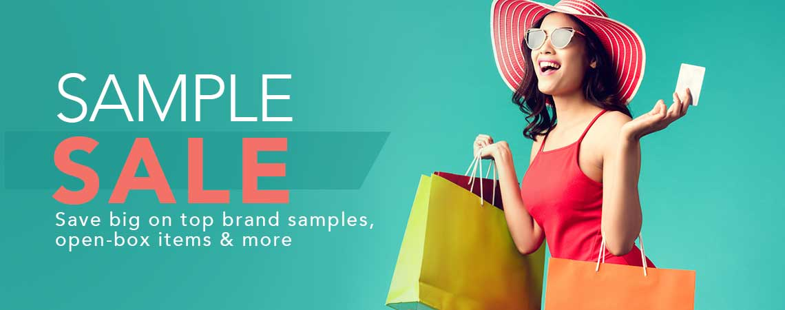 SAMPLE SALE Save big on top brand samples, open-box items & more at ShopHQ