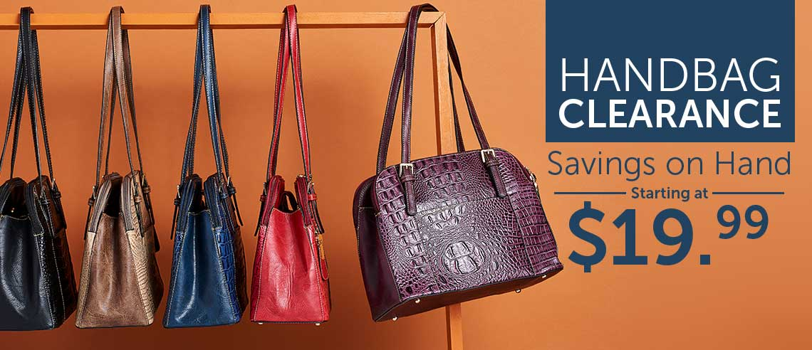 HANDBAG CLEARANCE Savings on Hand Starting at $19.99 at ShopHQ