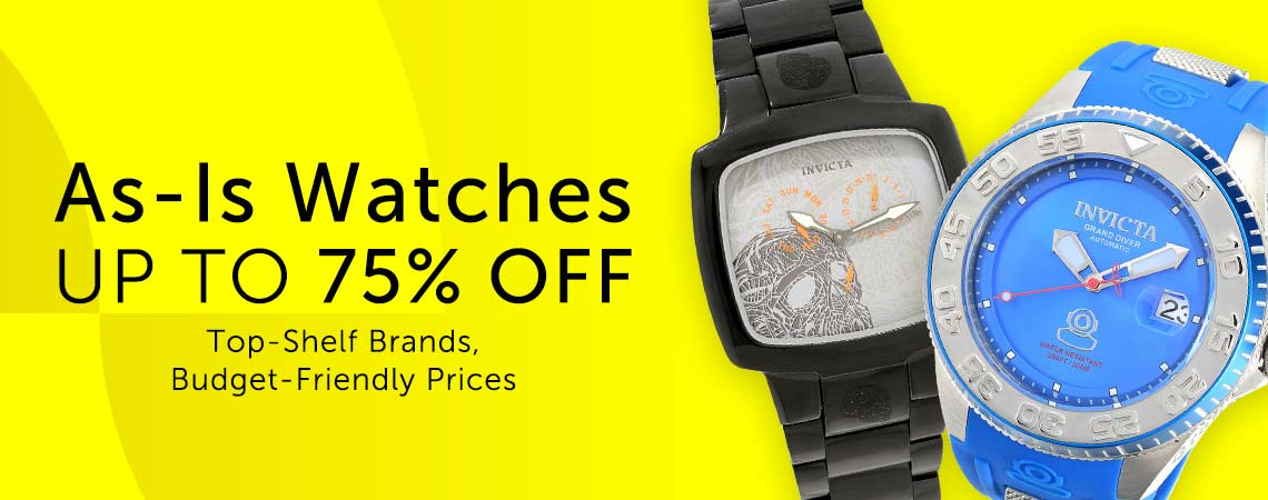As-Is Watches - UP TO 75% OFF Top-Shelf Brands, Budget-Friendly Prices at ShopHQ