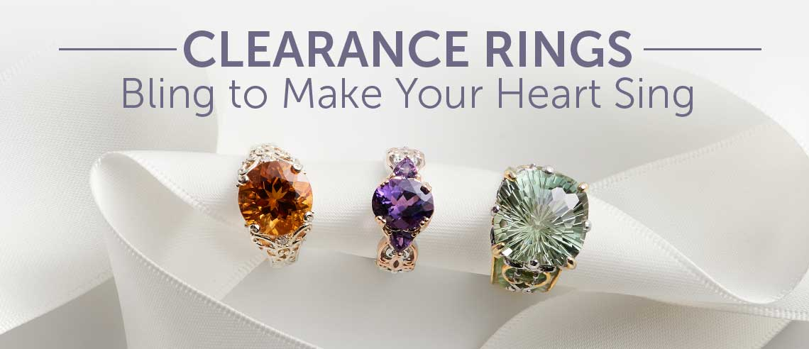 CLEARANCE RINGS Bling to Make Your Heart Sing at ShopHQ