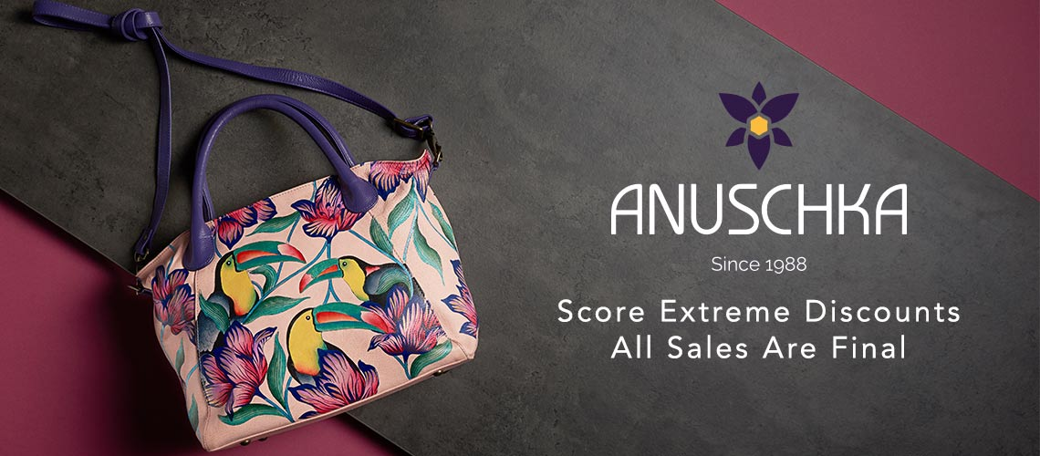 Anuschka at Evine - 730-557 Anuschka Hand-Painted Leather Zip Top Satchel w Removable Strap