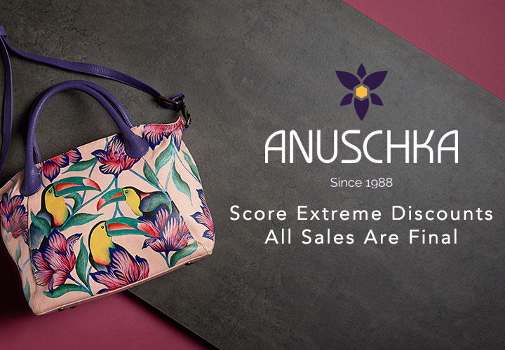 Anuschka at ShopHQ - 730-557 Anuschka Hand-Painted Leather Zip Top Satchel w Removable Strap