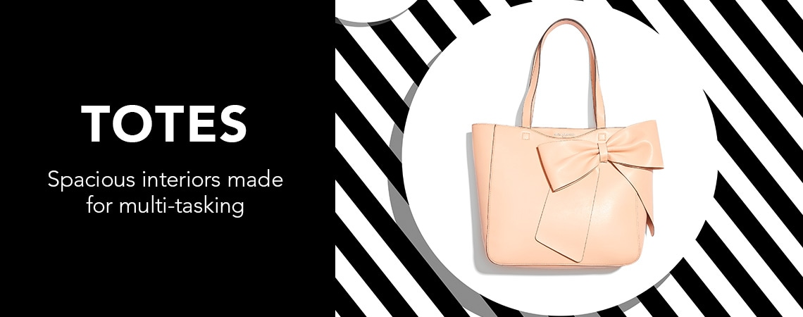 TOTES at Evine - 740-361 Karl Lagerfeld Paris Canelle Faux Leather Bow Detailed Tote Bag