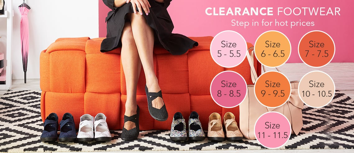 CLEARANCE FOOTWEAR Step in for hot prices