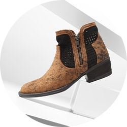 744-479 Corkys Boutique Santiago Braid, Buckle & Stud Detailed Ankle Boots