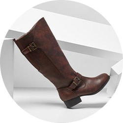 744-451 MIA Amore Lolaa Buckle Detailed Side Zip Riding Boots