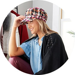Handbags & Accessories - 739-224 Laundry by Design Woven Cabbie Hat