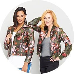 Tops & Jackets - 739-489 Kate & Mallory® Faux Leather 2-Pocket Zip Front Choice of Moto or Bomber Jacket