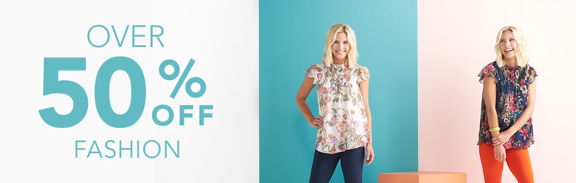 OVER 50% OFF FASHION - 737-320 Kate & Mallory® Knit & Woven Flutter Sleeve Ruffled Collar Smocked Top