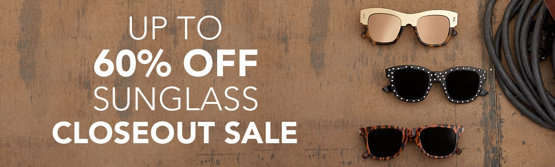 UP TO 60% OFF SUNGLASS CLOSEOUT SALE at Evine