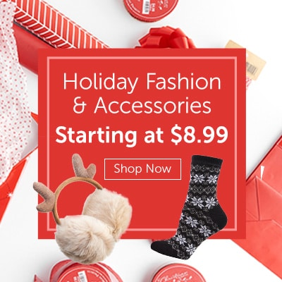 Holiday Fashion & Accessories Starting at $8.99 at ShopHQ - 741-576 MeMoi Fair Isle Pattern Cozy Lined Crew Socks, 739-949 Harve Benard Faux Fur Ear Muffs