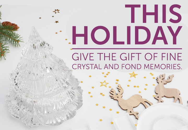This holiday, give the gift of fine crystal and fond memories at ShopHQ