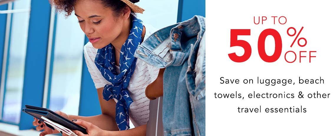 UP TO 50% OFF EASY GOING  Save on luggage, beach towels, electronics & other travel essentials at Evine