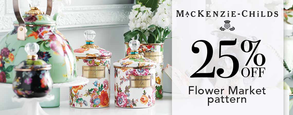 MACKENZIE-CHILDS  25% OFF Flower Market pattern at Evine