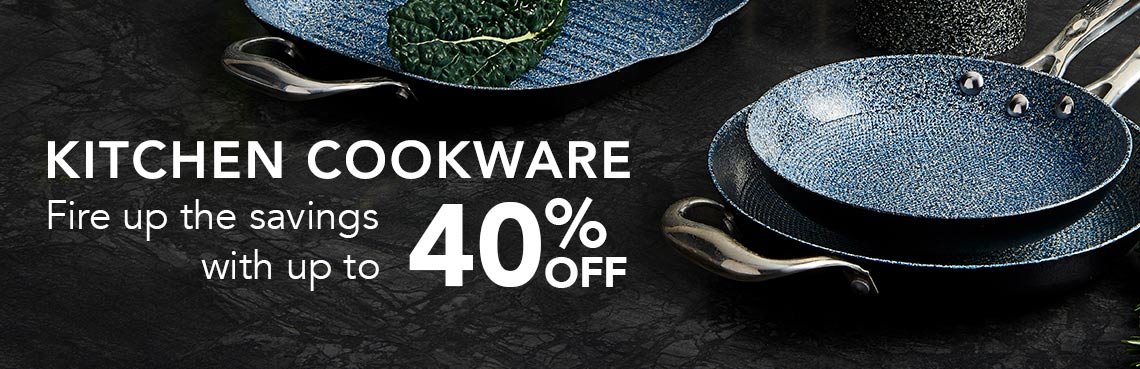 KITCHEN COOKWARE  Fire up the savings with up to 40% OFF - 477-648 Deen Brothers Hard Anodized Cast Iron GranIT Ceramic Nonstick 12 Grill Pan, 477-644 Deen Brothers Hard Anodized Cast Iron GranIT Ceramic Nonstick 8 & 9.5 Fry Pans