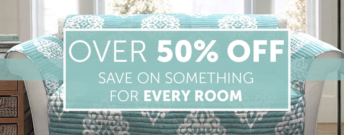 Over 50% OFF Save on Something for Every Room at ShopHQ | 486-142 Lush Decor Choice of Color Loveseat Furniture Protector