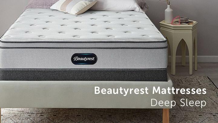 Beautyrest Mattresses Deep Sleep at ShopHQ - 488-920 Beautyrest Plush Euro Top Mattress & Foundation Set
