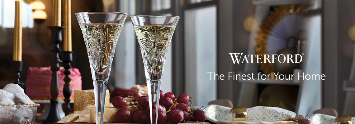 Waterford The Finest for Your Home at ShopHQ - 476-756 Waterford Crystal Universal Wishes Set of 2 (4 oz) Toasting Flutes