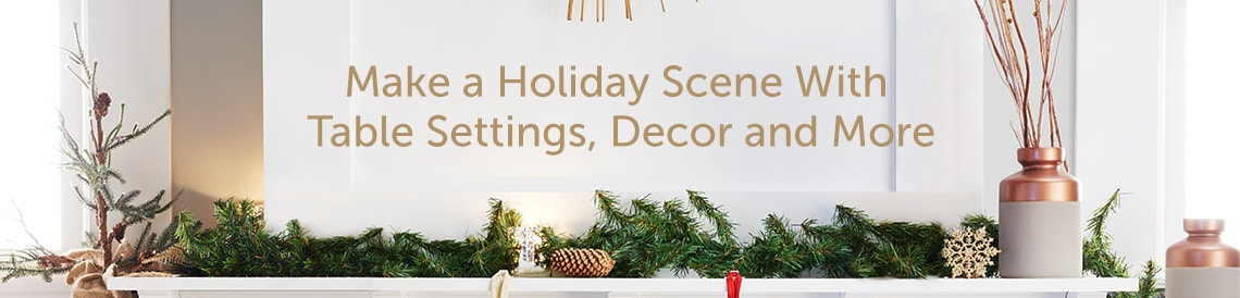 Make a Holiday Scene With Table Settings, Decor and More