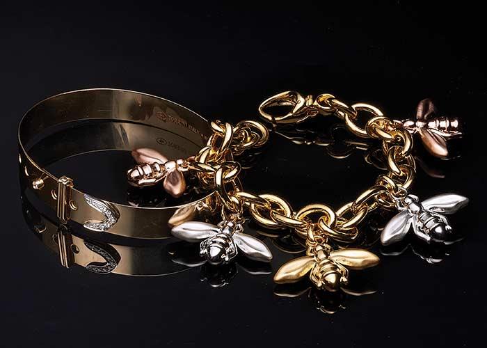 174-747 Stefano Oro 14K Gold Italian City Crest Filigree Signet Ring