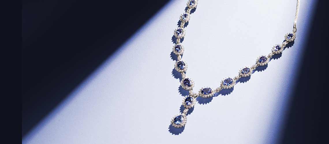 174-560 Gem Treasures® Sterling Silver 14.60ctw Tanzanite & Gem Adjustable Y-Necklace