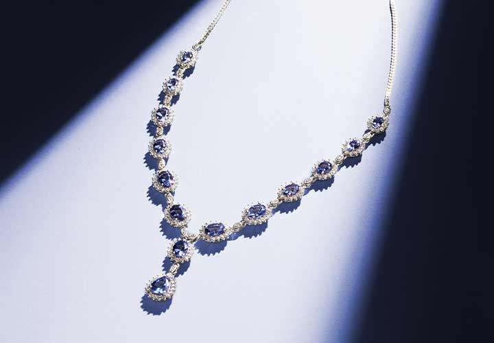 174-560 Gem Treasures® Sterling Silver 14.60ctw Tanzanite & Gem Adjustable Y-Necklace