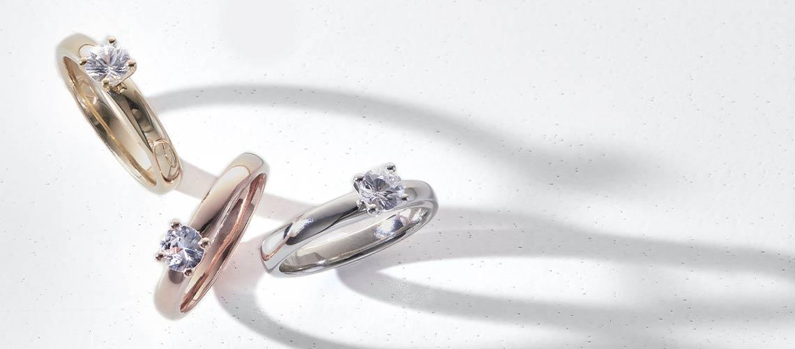 185-431 Gemporia White Zircon Solitaire Ring
