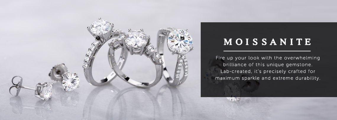 Moissanite  Fire up your look with the overwhelming brilliance of this unique gemstone. Lab-created, it's precisely crafted for maximum sparkle and extreme durability. at ShopHQ