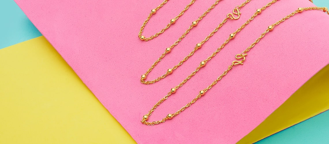 24K Gold with Lambert Cheng at ShopHQ | 184-852 Lambert Cheng 24K Gold Choice of Length Polished Bead Sealink Chain Necklace