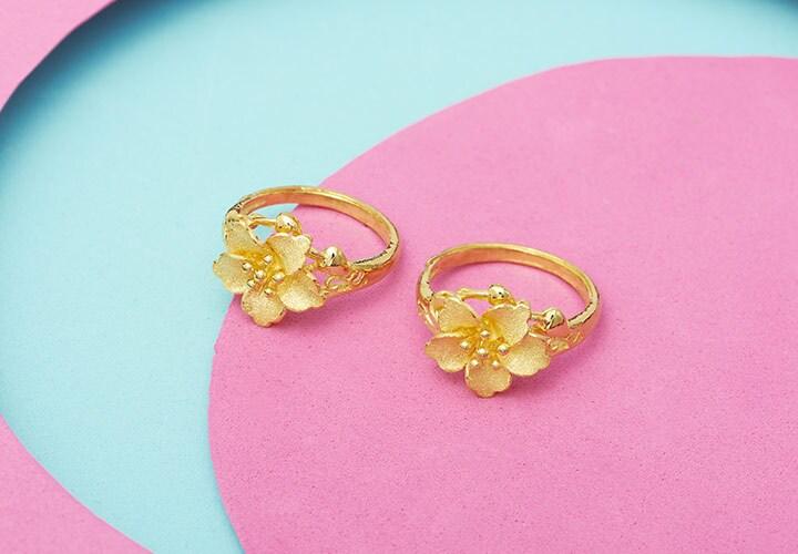 24K Gold with Lambert Cheng at ShopHQ | 186-144 Lambert Cheng 24K Gold Textured Laser Finish Flower Ring, 5.2 grams