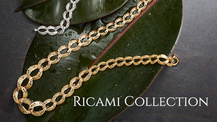 Ricami Collection - 171-336 Stefano Oro Fiori Ricami 14K Gold 17.75 Link Necklace, 13.58 grams