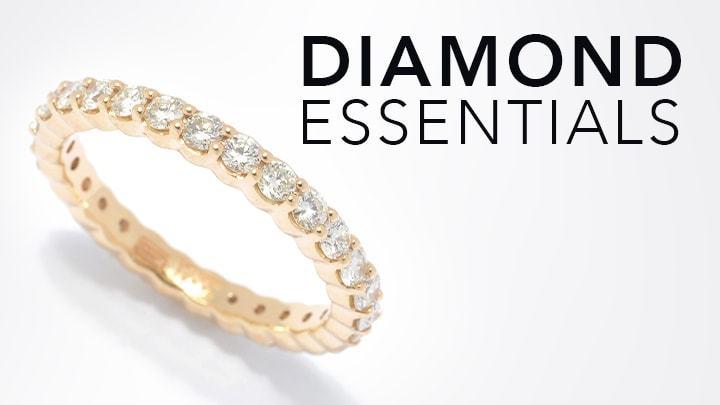 Diamond Essentials - 154-224 Gems of Distinction™ 14K Gold 0.98ctw Diamond Band Ring