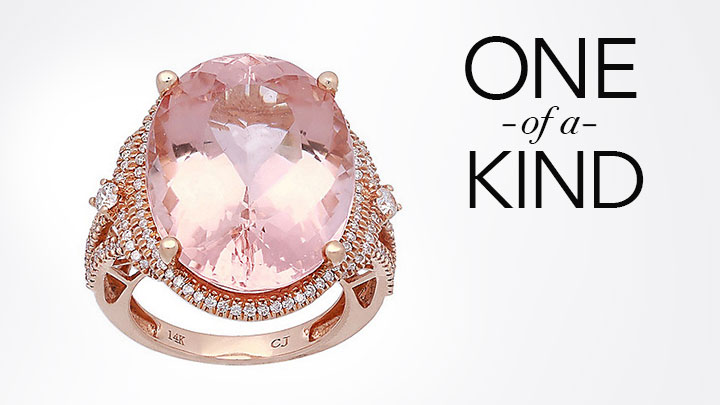 One-of-a-Kind - 175-250 Gems of Distinction™ One-of-a-Kind 14K Rose Gold 23.32ctw Morganite & Diamond Ring - Size 7
