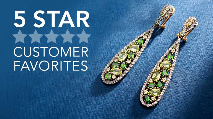5 Star Customer Favorites - 156-490 NYC II® 2.25 Multi Gemstone Teardrop Earrings