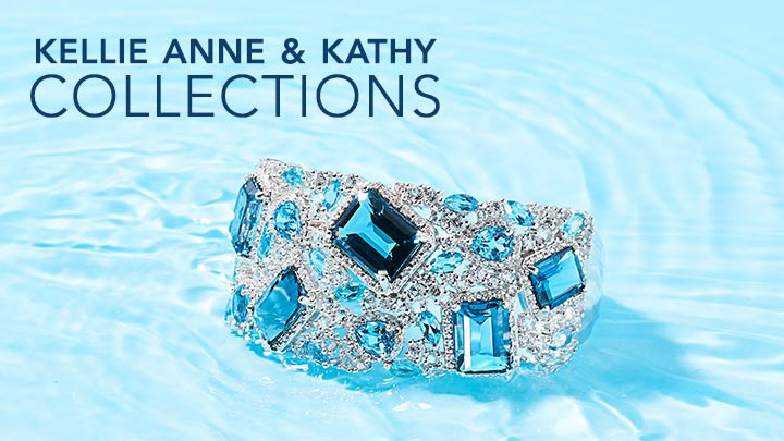 Kellie Ann & Kathy Collections - 179-352 Gem Treasures® 59.54ctw London Blue Topaz & Multi Gemstone Wide Cuff Bracelet