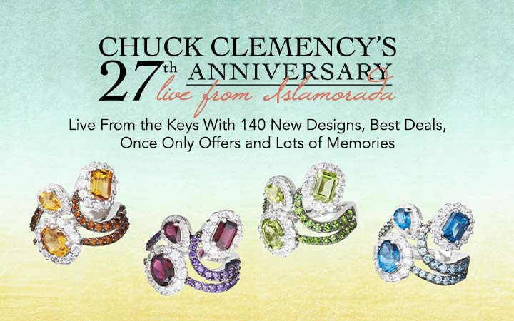 Gem Treasures 27th Anniversary Live From the Keys With 140 New Designs, Best Deals, Once Only Offers and Lots of Memories at ShopHQ