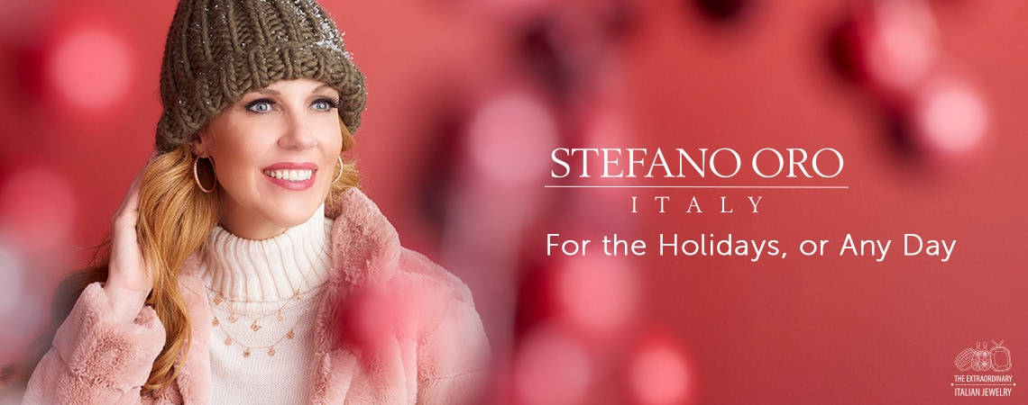Holiday Italian Jewelry Festival at ShopHQ - 182-799 Stefano Oro 14K Gold Tubing Choice of Size Diamond Cut Hoop Earrings, 184-673 Stefano Oro 14K Gold 16 Butterfly or Flower Necklace w 2 Extender, 1.23 grams