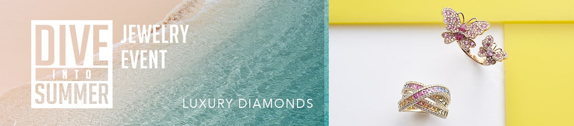 Dive into Summer JEWELRY EVENT - LUXURY DIAMONDS at Evine - 171-517 EFFY Watercolors 14K Rose Gold 2.00ctw Ruby, Pink Sapphire & Diamond Ring 165-429 EFFY Watercolors 14K Gold 3.78ctw Diamond & Multi Color Sapphire Highway Ring