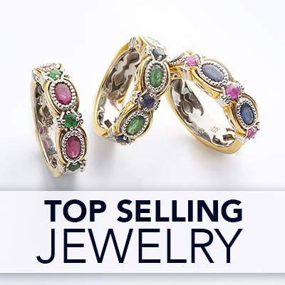 TOP SELLING  JEWELRY at ShopHQ - 157-783 Gems en Vogue Choice of Precious Gemstone 7-Stone Band Ring