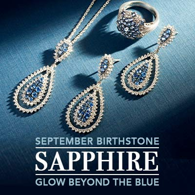 September Birthstone - Sapphire Glow beyond the blue at ShopHQ - 175-963 Gem Treasures® Sterling Silver 2.01ctw Ceylon Blue Sapphire & Gem Pendant, 175-939 Gem Treasures® Sterling Silver 2 4.02ctw Ceylon Blue Sapphire & Gem Earrings, 176-176 Gem Treasures® Sterling Silver 1.36ctw Ceylon Blue Sapphire & White Zircon Ring