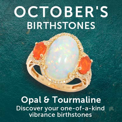 October's Birthstones Opal & Tourmaline Discover your one-of-a-kind vibrance at ShopHQ - 181-883 Fierra™ 14K Gold Ethiopian Opal, Fire Opal & Diamond Ring - Size 6