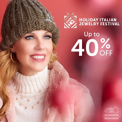 Holiday Italian Jewelry Festival  Up to 40% OFF at ShopHQ - 182-799 Stefano Oro 14K Gold Tubing Choice of Size Diamond Cut Hoop Earrings, 184-673 Stefano Oro 14K Gold 16 Butterfly or Flower Necklace w 2 Extender, 1.23 grams