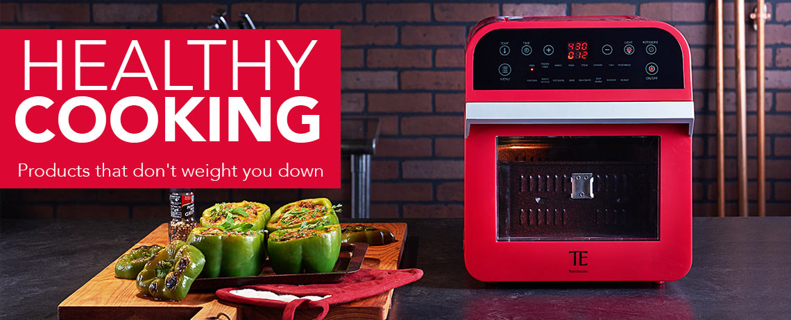 HEALTHY COOKING at Evine - 475-110 Todd English 1600W 12.7 qt Multi Function Digital Air Fryer Oven w Accessories