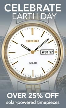 Celebrate Earth Day - 626-043 Seiko Men's 37mm Core Solar Quartz Day & Date Two-tone Stainless Steel Bracelet Watch