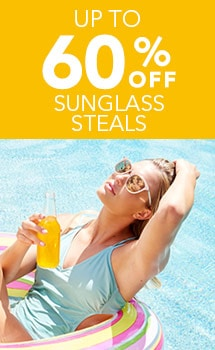 UP TO 60% OFF SUNGLASS STEALS at Evine