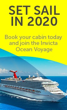 SET SAIL IN 2020 Book your cabin today and join the Invicta Ocean Voyage