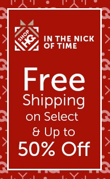 In the Nick of Time Free Shipping on Select & Up to 50% OFF