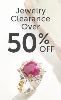 Jewelry Clearance Over 50% OFF at ShopHQ - 177-610 Gems en Vogue Choice of Shape Opaque Ruby & White Zircon Halo Ring