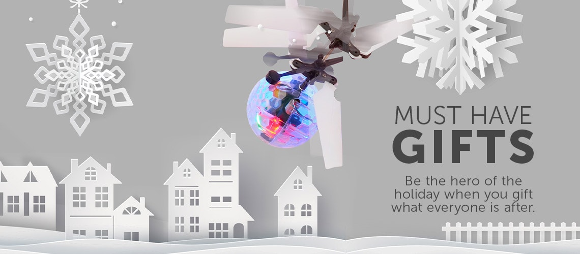 MUST HAVE GIFTS  Be the hero of the holiday when you gift what everyone is after.  at ShopHQ - 485-895 Comet IR UFO Ball Helicopter - 3 Pack