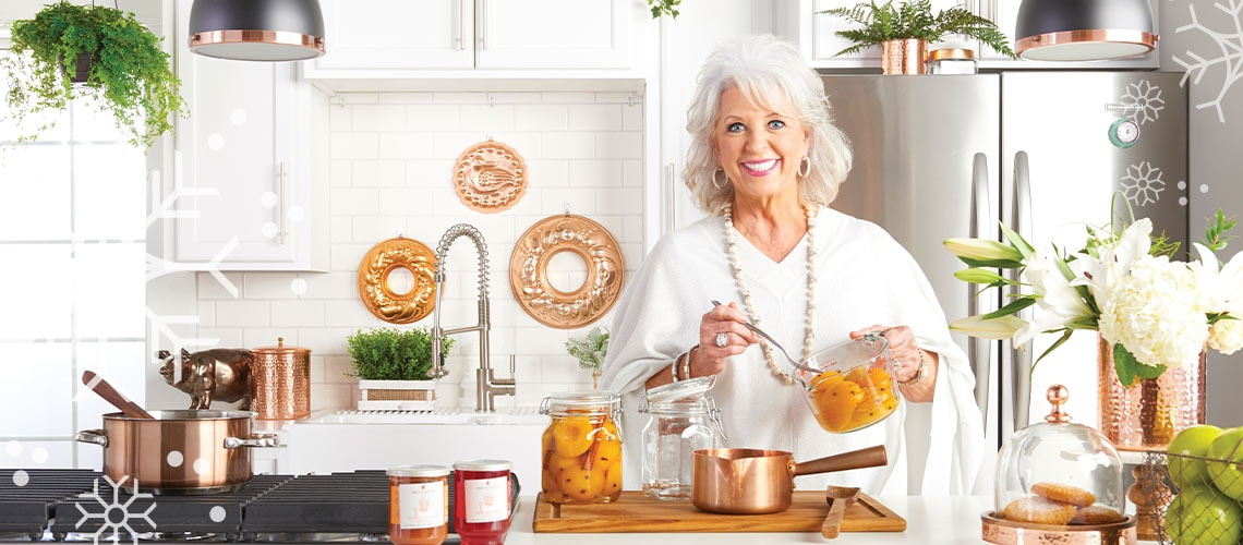 Paul Deen's Kitchen - Nothing says home for the holidays like a homemade meal. So, get cooking with the Queen of Southern Cuisine and start serving up memorable holiday feasts.